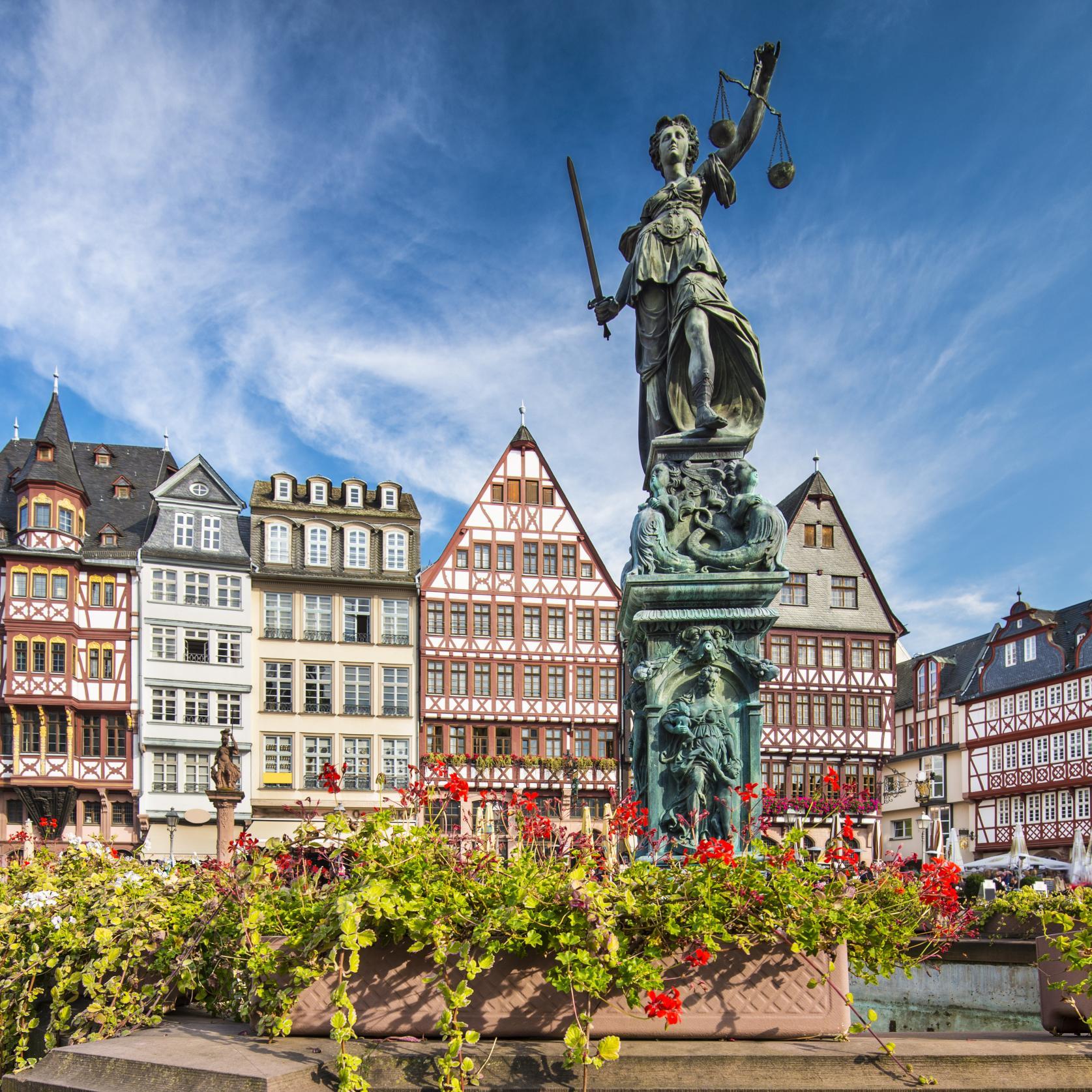 Römerberg im historischen Zentrum, Frankfurt