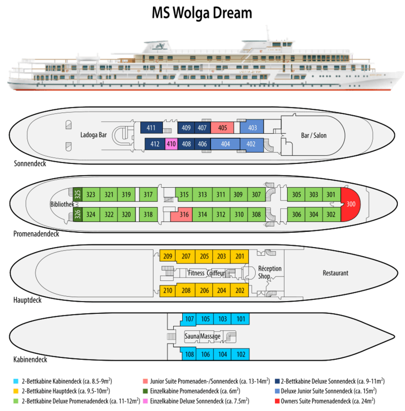 Wolga Dream Deckplan