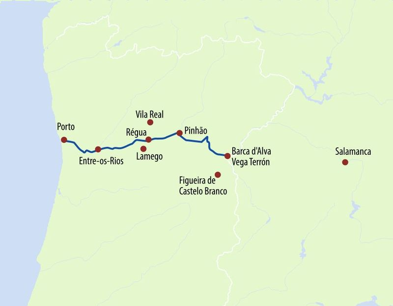 Douro Prince - die Mosel Portugals Routenplan