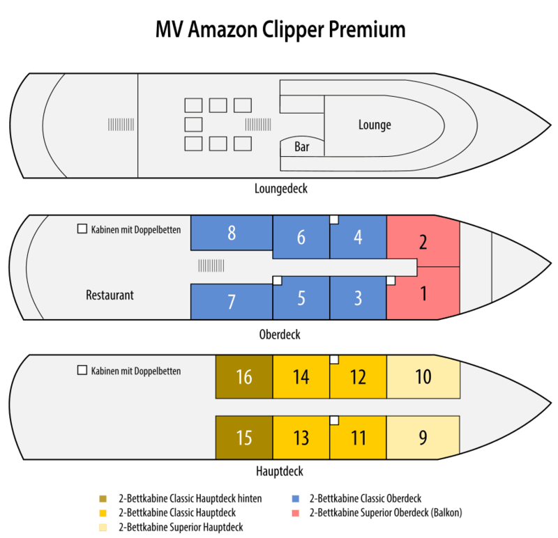 Amazon Clipper Premium Deckplan