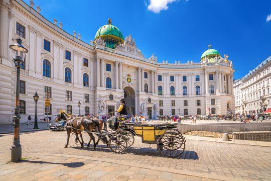 Fiaker vor der Alten Hofburg, Wien